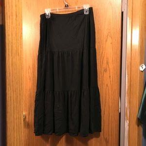 Black layered Maxi Skirt